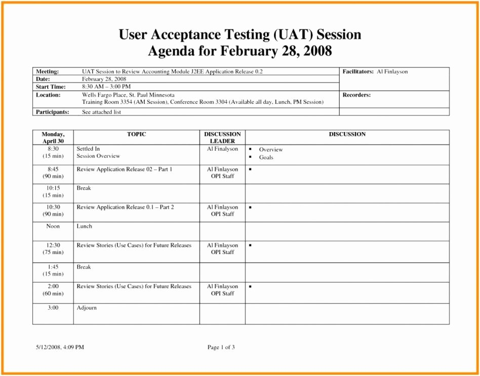 Agile Test Plan Template Inspirational User Acceptance Test Plan Sheet Template Picture Excel