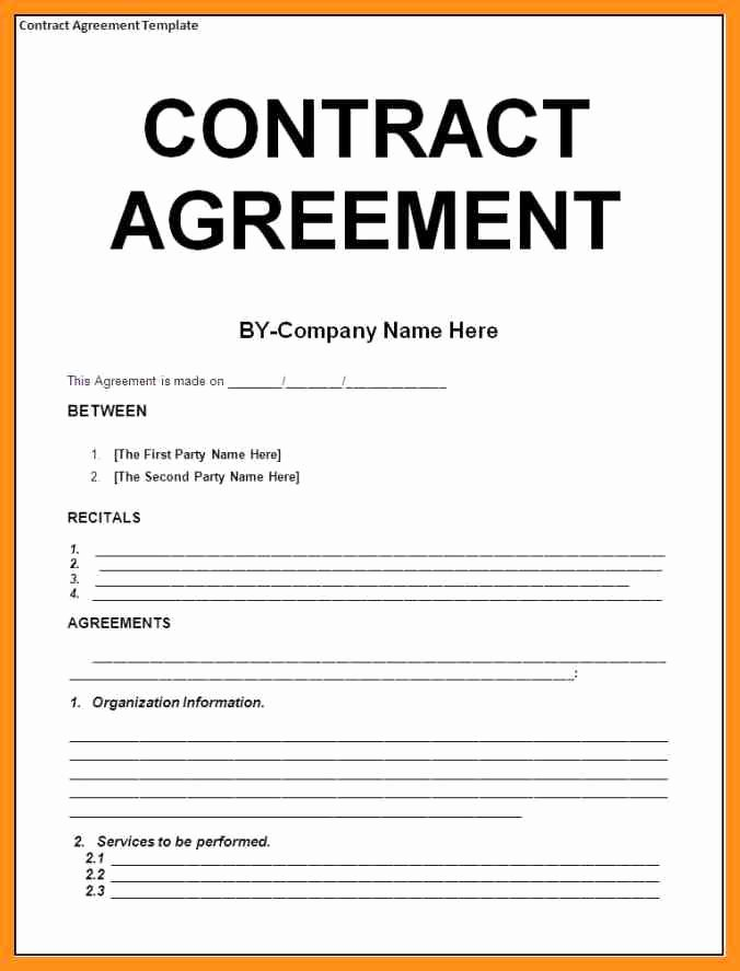 Agreement Letter Between Two Parties Template Best Of Service Agreement Between Two Parties