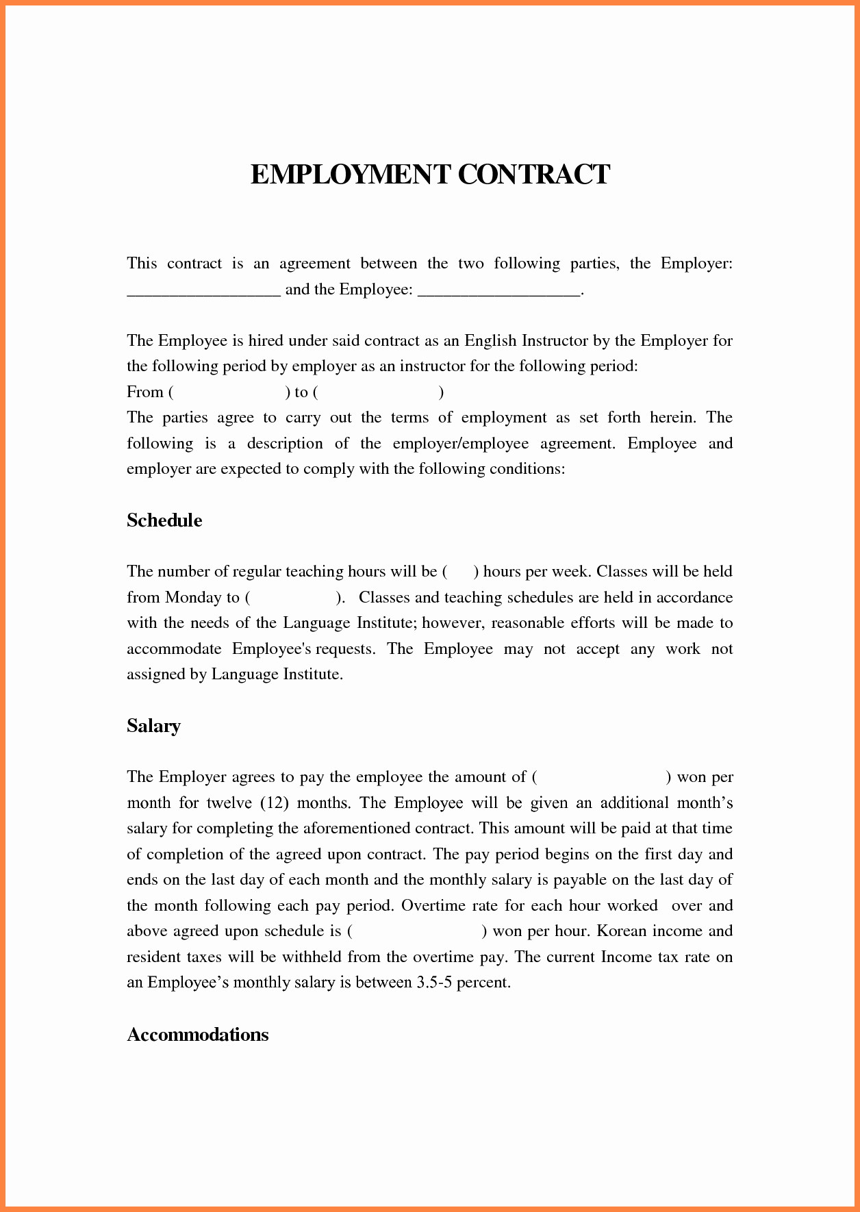 Agreement Letter Between Two Parties Template Elegant 6 Contract Agreement Between Two Parties Template