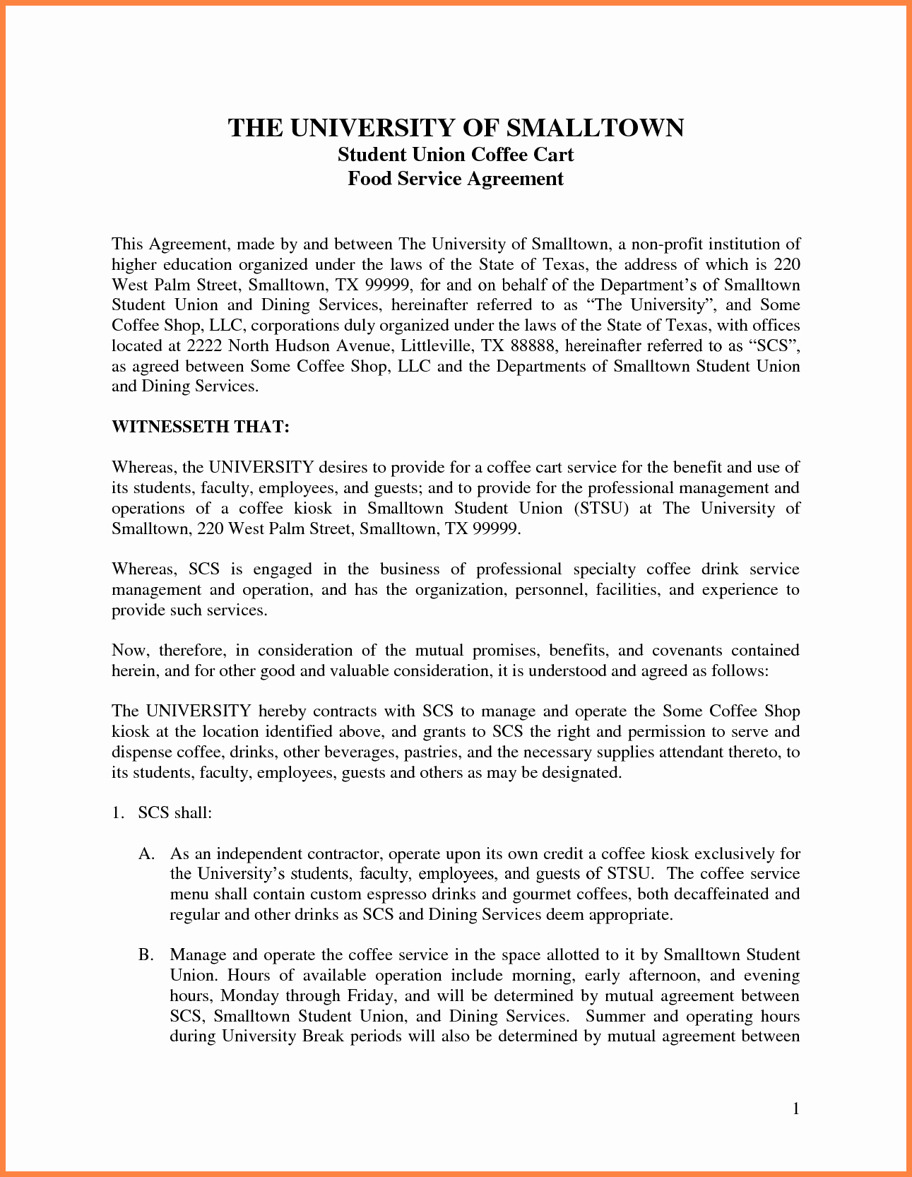 Agreement Letter Between Two Parties Template Luxury 6 Legal Agreement Between Two Parties Template