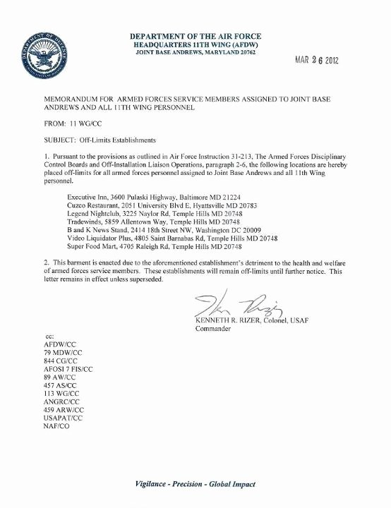 Air force Academy Recommendation Letter Awesome 25 Of Air force Letter Re Mendation Template