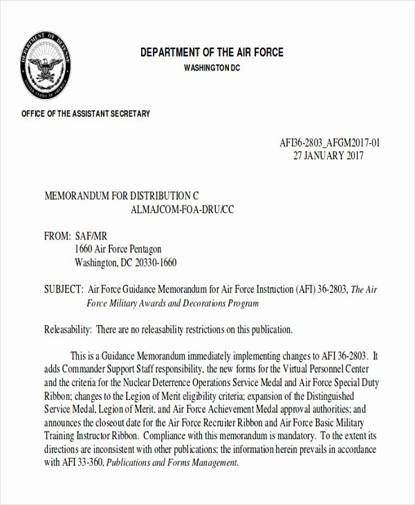 Air force Letter Of Recommendation Elegant 6 Sample Air force Re Mendation Letter Free Sample
