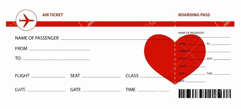 Airline Ticket Gift Certificate Template Awesome Play Ticket Template Fake Airline Ticket Template Free