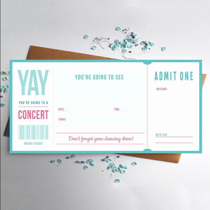 Airline Ticket Gift Certificate Template Awesome the 25 Best Concert Ticket T Ideas On Pinterest