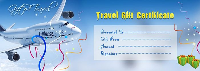 Airline Ticket Gift Certificate Template Awesome Travel Gift Voucher Certificate Template