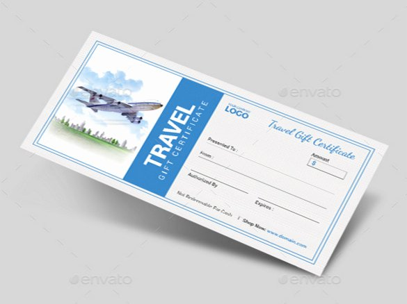 Airline Ticket Gift Certificate Template Beautiful 9 Travel Gift Certificate Templates Doc Pdf Psd