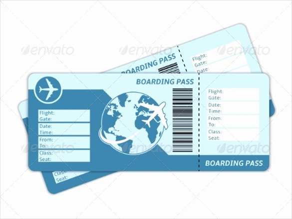 Airline Ticket Gift Certificate Template Fresh 28 Blank Ticket Templates Psd Vector Eps Ai Word