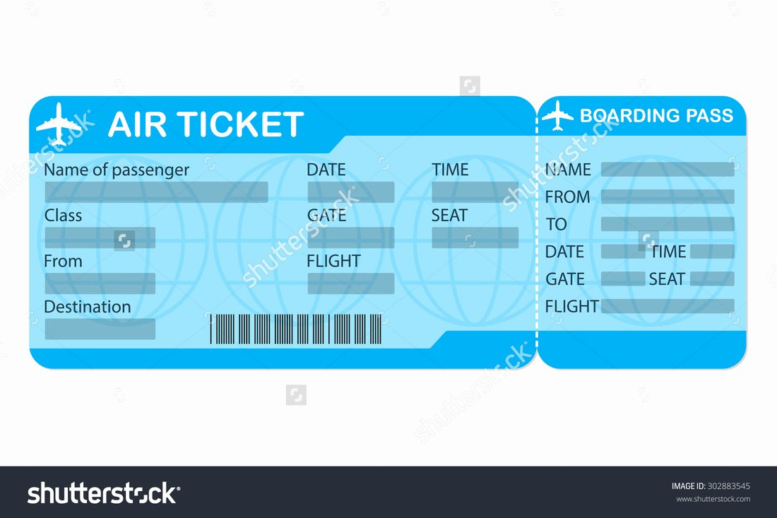 Airline Ticket Gift Certificate Template Inspirational 29 Of Blank Plane Ticket Template for Gift