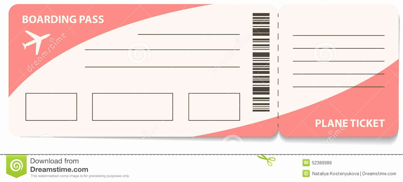 Airline Ticket Gift Certificate Template Luxury Air Ticket Stock Vector Illustration Of Symbol Plane