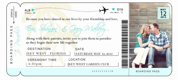 Airline Ticket Gift Certificate Template Luxury Diy Airline Ticket Invitation
