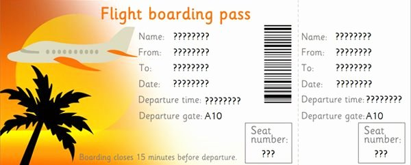 Airline Ticket Gift Certificate Template Unique Downloadable Editable Airline Tickets