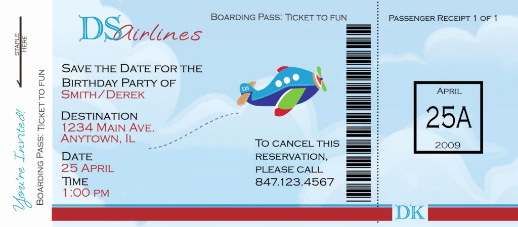 Airline Ticket Gift Certificate Template Unique Funny Example Of Airlines Boarding Pass Ticket Template