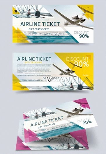 Airline Ticket Gift Certificate Template Unique Helicopter Rides Free Gift Certificate – by Elegantflyer