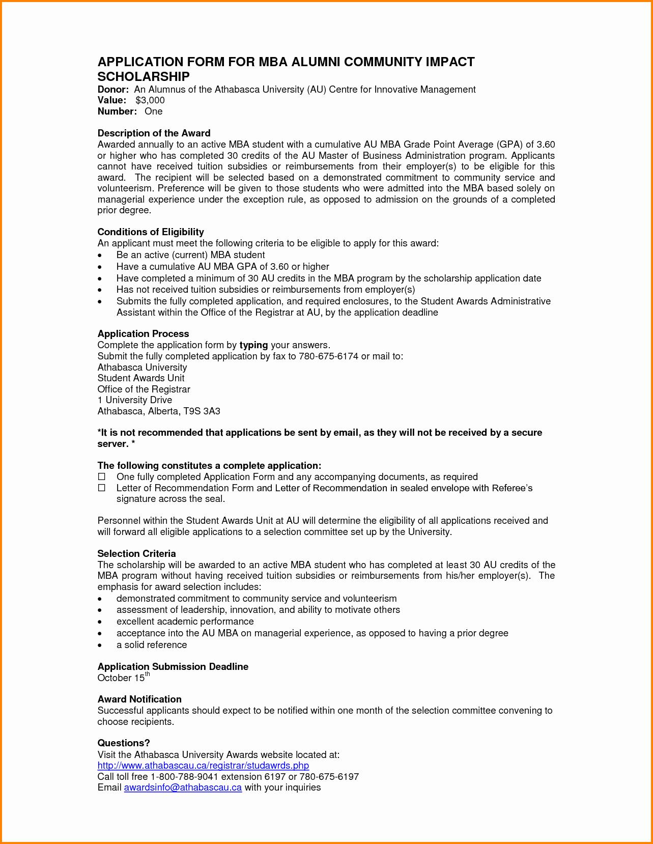 Alumni Letter Of Recommendation Fresh 9 Letter Of Re Mendation for Mba Program Sample