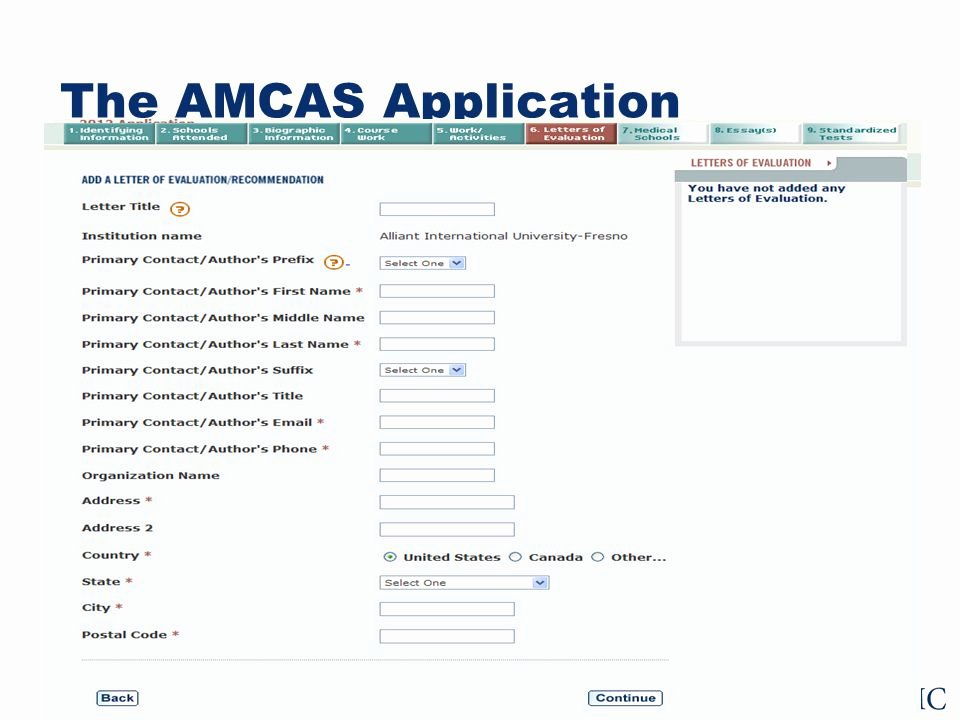 Amcas Letter Of Recommendation Guide Best Of for Applicants the Amcas Application Process A