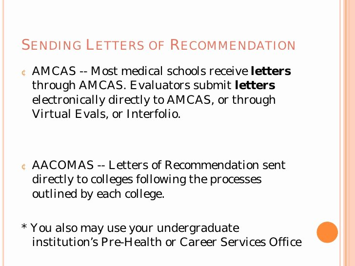 Amcas Letter Of Recommendation Guide Fresh the Medical School Application Process From A Z