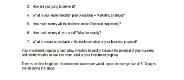 Angel Investor Proposal Template Fresh Business Investment Proposal Template