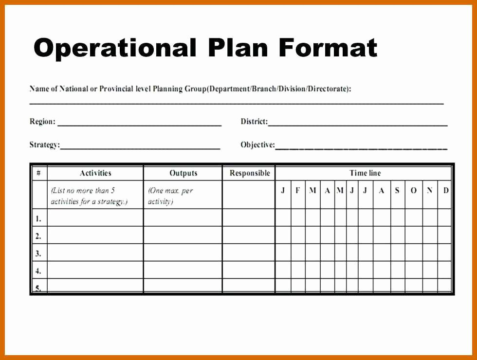 Annual Operating Plan Template New 3 4 Operational Plans Examples