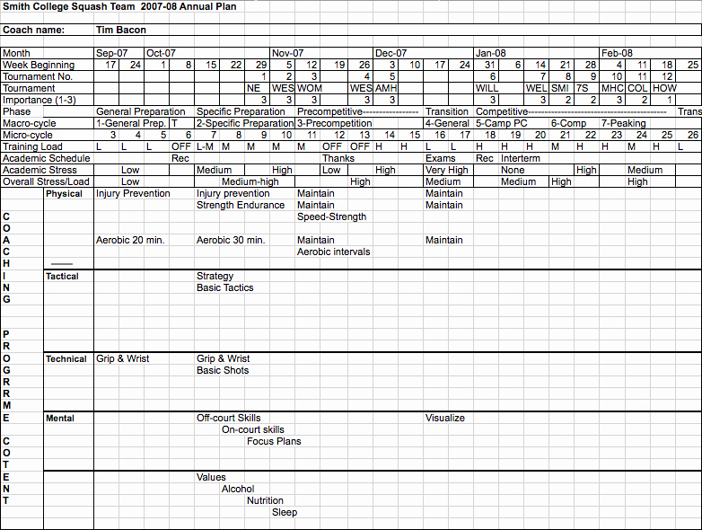 Annual Work Plan Template Unique Yearly Training Plan Template Excel Best Photos Of