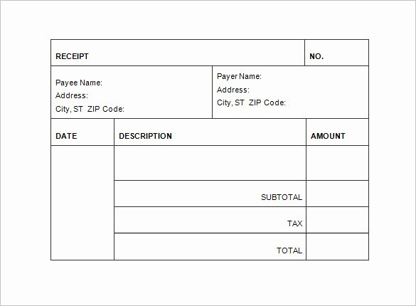 Another Word for Receipt Beautiful Receipt Invoice Template