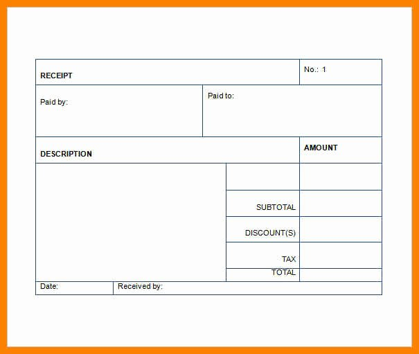 Another Word for Receipt Fresh 18 Sales Receipt Template Word