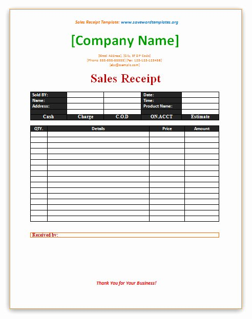 Another Word for Receipt Unique Sales Receipt Template