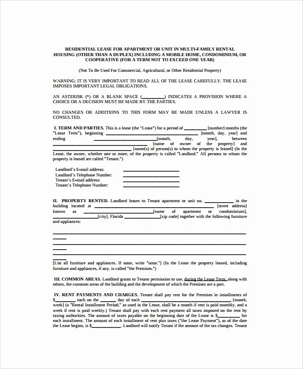 Apartment Lease Transfer Agreement Template Fresh 8 Sample Residential Lease Agreements