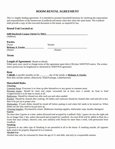 Apartment Lease Transfer Agreement Template Fresh Room Rental Agreement Template Free Download Create