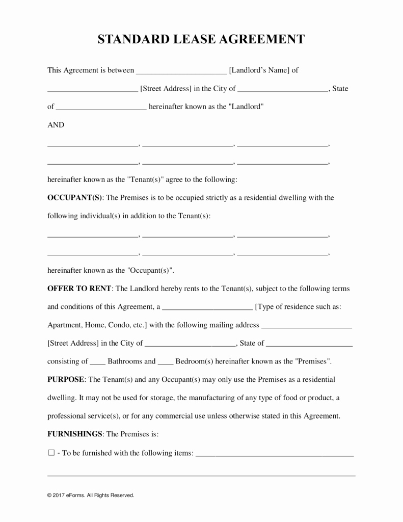 Apartment Lease Transfer Agreement Template New Free Rental Lease Agreement Templates Residential