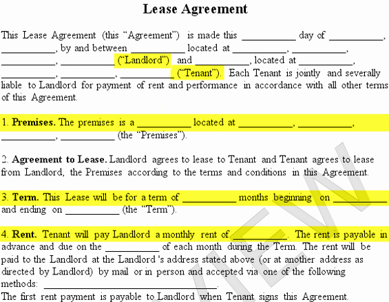 Apartment Lease Transfer Agreement Template New Residential Lease Agreement form