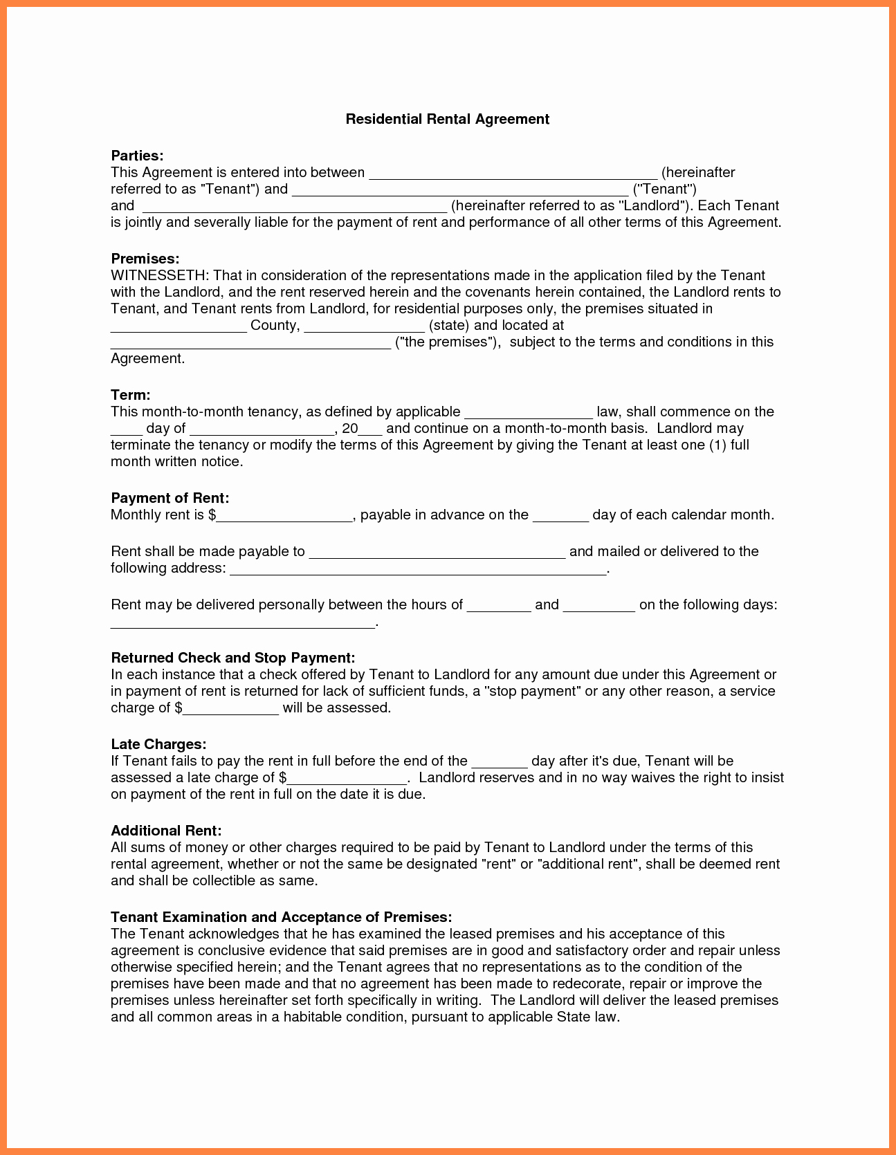 Apartment Lease Transfer Agreement Template Unique 10 Apartment Rental Agreement