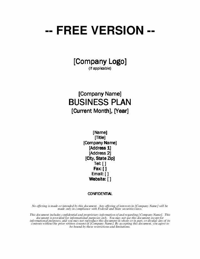 App Business Plan Template Best Of Growthink Business Plan Template Free Download