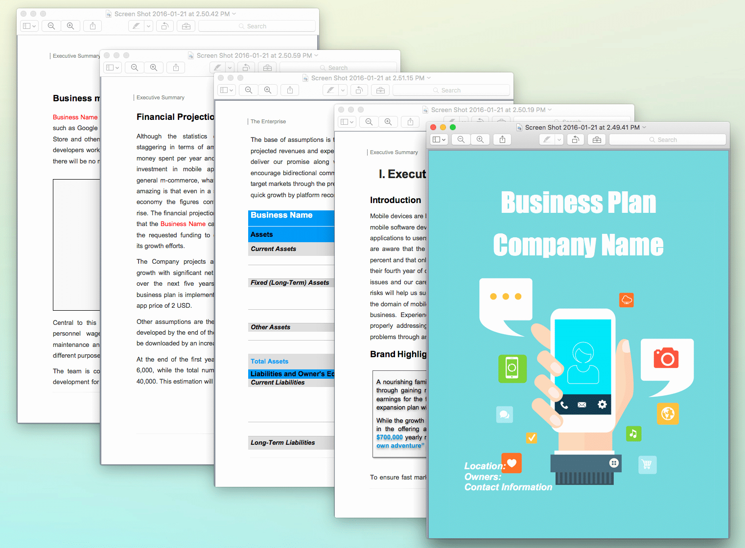 App Business Plan Template Luxury Mobile App Pany Business Plan Sample Pages Black Box