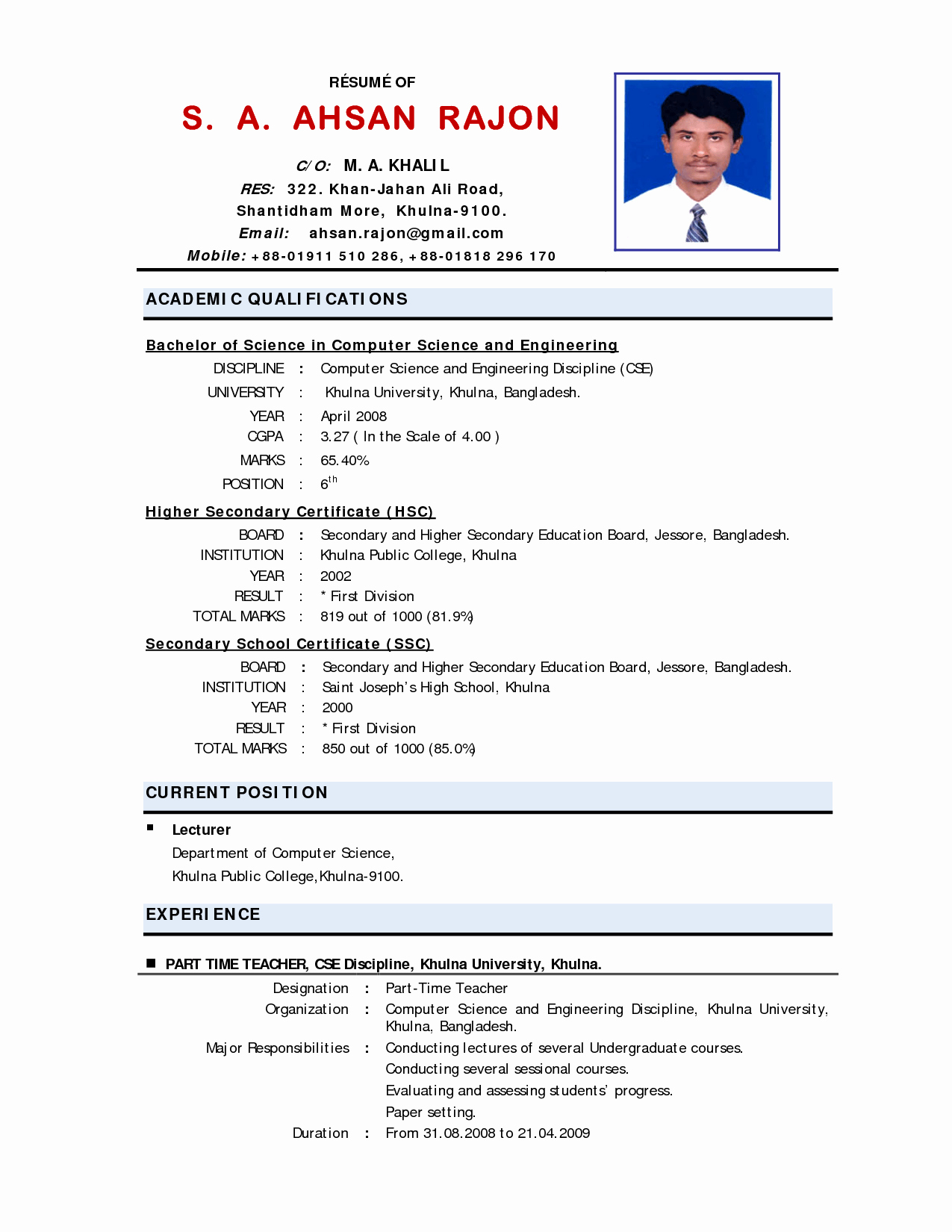 Applied Physics Letters Word Template Inspirational 10 Example Of Applicant Resume for Teacher