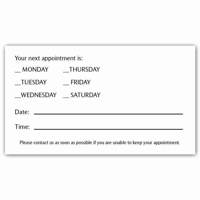 Appointment Reminder Letter Template Medical Beautiful 10 Best Of Patient Reminder Postcards Appointment
