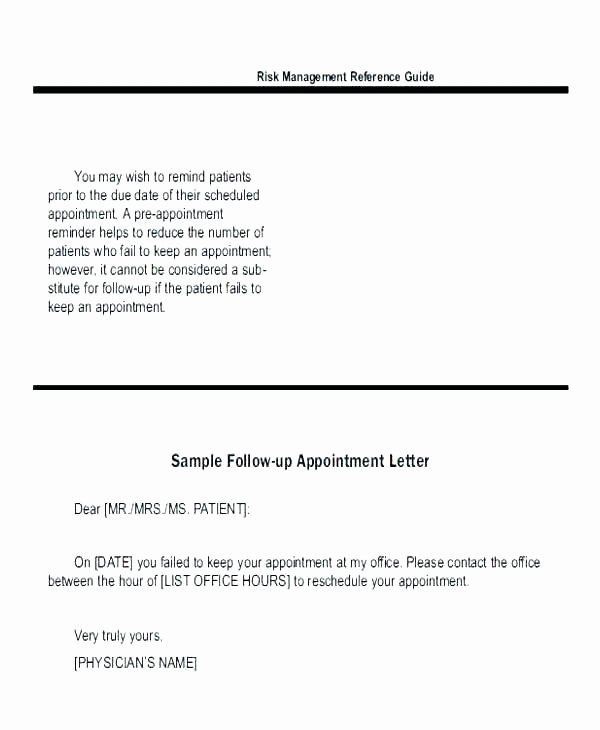 Appointment Reminder Letter Template Medical Beautiful Medical Appointment Reminder Template Best Appointment