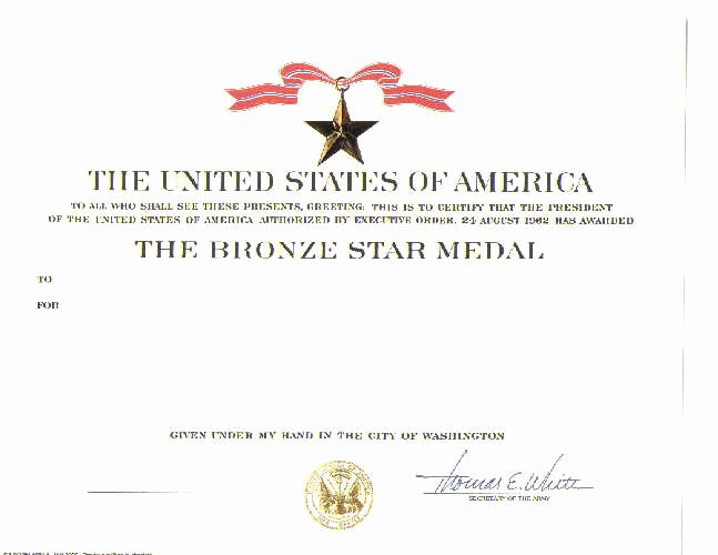 Army Award Certificate Template Awesome Army Award Template Reverse Search