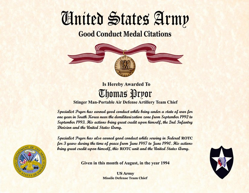 Army Award Certificate Template Elegant Individual Award Certificate Military Training Unit Awards
