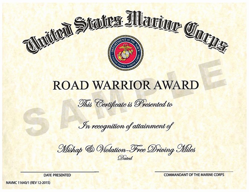 Army Award Certificate Template Elegant Safety Awards Programs