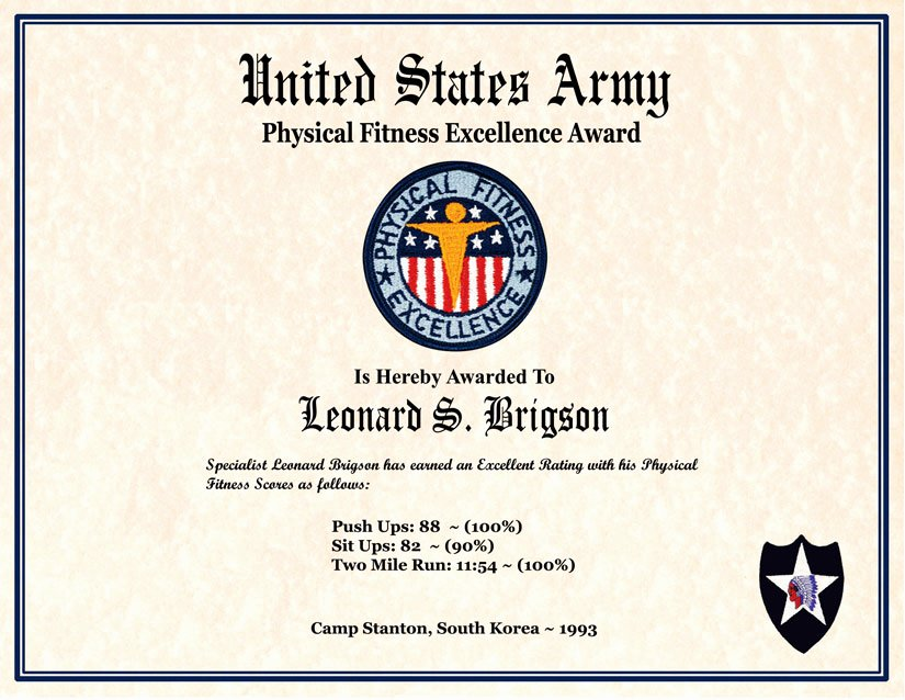 Army Award Certificate Template Lovely Individual Award Certificate Military Training Unit Awards