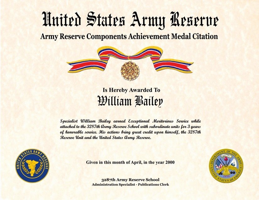 Army Award Certificate Template New Certificate Appreciation Army Ribbon