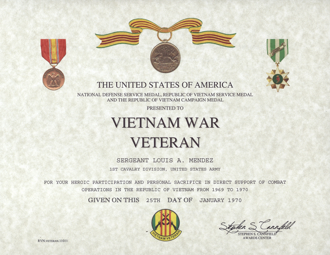 Army Award Certificate Template Unique Military Replacement Certificates to Pin On