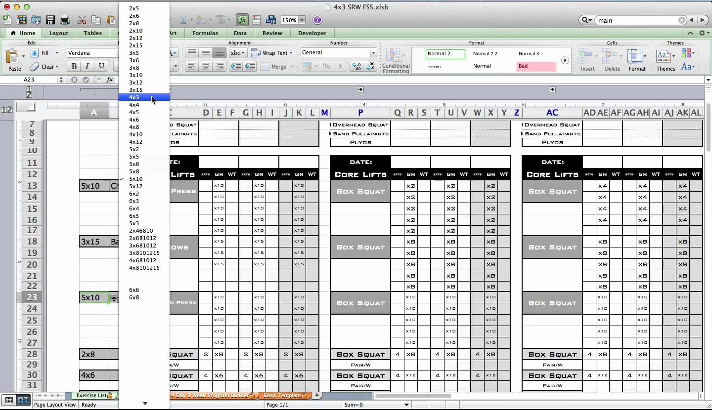 Army Pt Plan Template Unique Pt Calendar Excel Bing Images