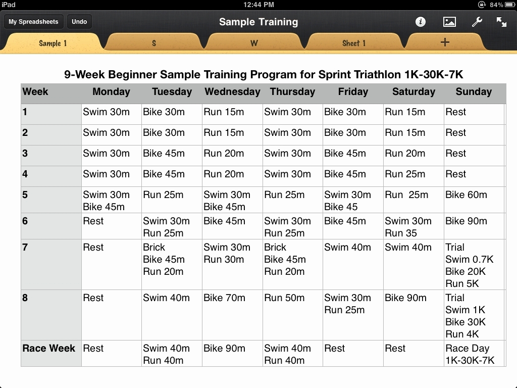 Army Training Plan Template Beautiful Triathlon Training Calendar Template