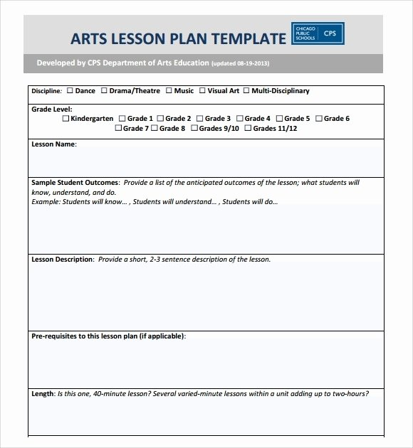 Art Lesson Plan Template Best Of Art Lesson Plan Template Beepmunk