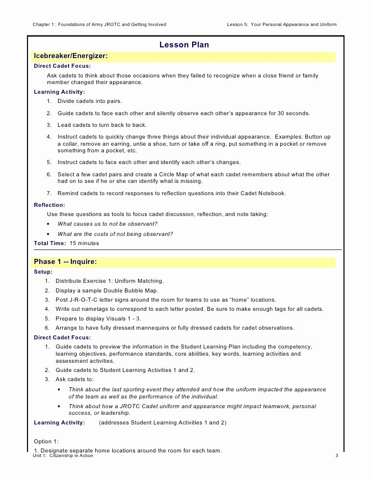 Asca Lesson Plan Template Best Of Cadet Lesson Plan Template Globalsacredcircle