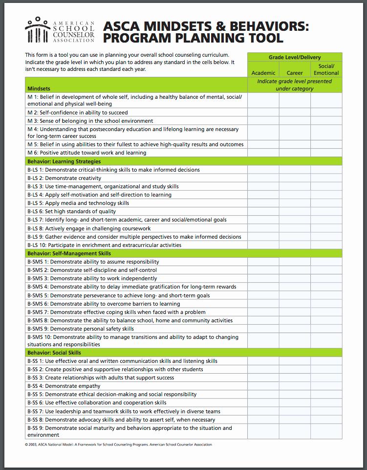 Asca Lesson Plan Template Unique School Counselor Lesson Plan Template Templates Parent