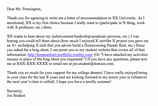 Ask for Letter Of Recommendation Inspirational Get Great Letters Of Re Mendation for College Your