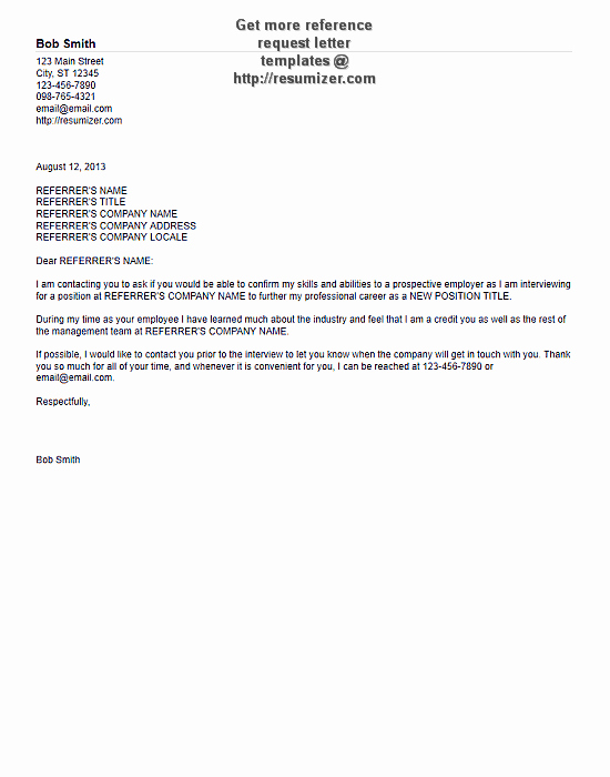 Ask for Recommendation Letter Sample New Reference Request Letter Example 5