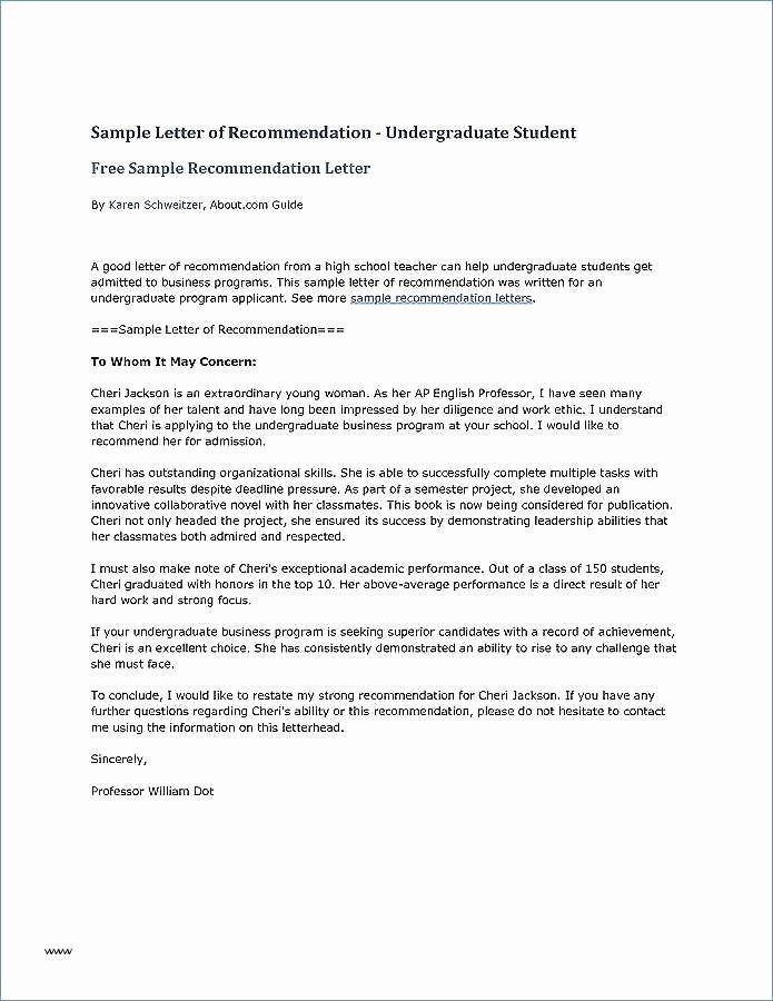 Ask Professor for Recommendation Letter Unique Sample Re Mendation Letter for Graduate School From